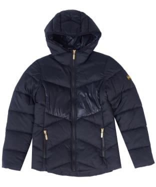 Girl's Barbour International Lydden Quilted Jacket, 6-9yrs - Black