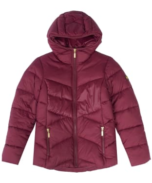 Girl's Barbour International Lydden Quilted Jacket, 6-9yrs - Port