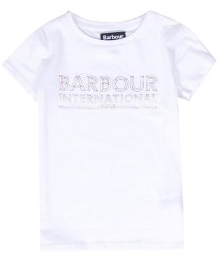 Girl's Barbour International Knockhill Tee, 10-14yrs - White