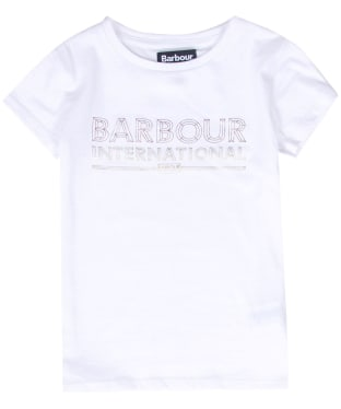 Girl's Barbour International Knockhill Tee, 6-9yrs - White