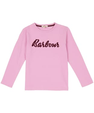 Girl's Barbour L/S Rebecca Tee, 6-9yrs - Moonlight Pink
