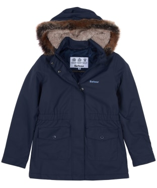Girls Barbour Bournemouth Waterproof Jacket, 6-9yrs - Dark Navy