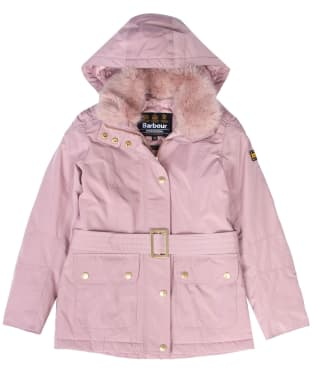 Girl's Barbour International Bowden Waterproof Jacket, 6-9yrs - Rose Quartz