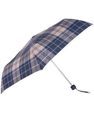 Women's Barbour Portree Umbrella - Tempest Blue Tartan