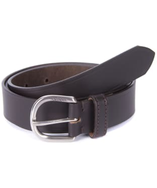 Women's Barbour Leather Belt - Dark Brown