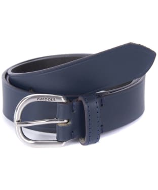 Women's Barbour Leather Belt - Navy