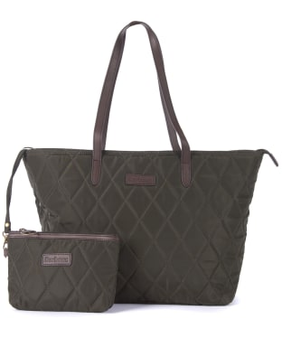 Women's Barbour Witford Quilted Tote Bag - Olive