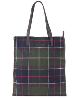 Women's Barbour Tain Tartan Shopper Bag - Classic Tartan
