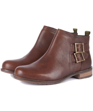 Women's Barbour Sarah Low Buckle Boots - Brown