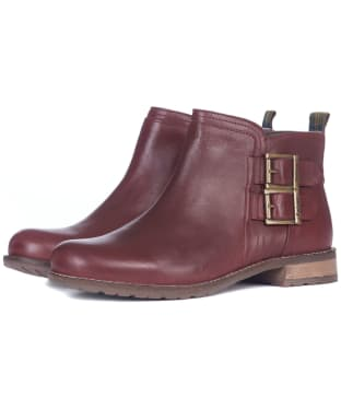 Women's Barbour Sarah Low Buckle Boots - Bordeaux