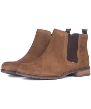 Women's Barbour Abigail Suede Chelsea Boots - Brown Suede