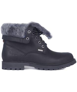 Women's Barbour Hamsterley Waterproof Leather Boots - Black