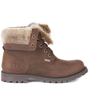 Women's Barbour Hamsterley Waterproof Leather Boots - Brown