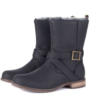 Women's Barbour Jennifer Leather Boots - Black