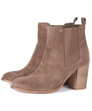Women's Barbour Valentina Suede Chelsea Boots - Taupe Suede