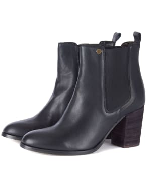 Women's Barbour Valentina Leather Chelsea Boots - Black