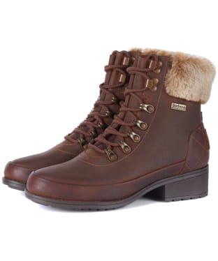 Women's Barbour Riva Leather Hiker Boots - Teak