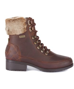 Women's Barbour Riva Leather Hiker Boots - Teak