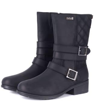 Women's Barbour Garda Leather Boots - Black