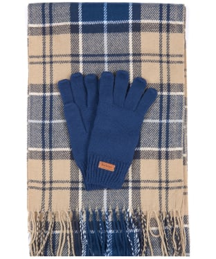 Women's Barbour Scarf and Knitted Glove Gift Set - Tempest/Trench