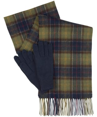 Women's Barbour Wool Tartan Scarf & Glove Set - Classic Tartan