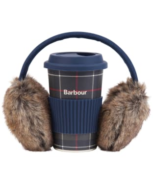Women's Barbour Travel Mug & Earmuff Set - Classic Tartan
