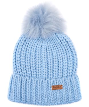 Women's Barbour Saltburn Bobble Hat - Forever Blue