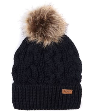 Women's Barbour Penshaw Cable Beanie - Black