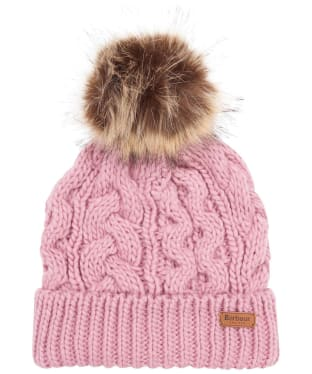 Women's Barbour Penshaw Cable Beanie - Pink