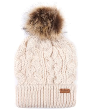 Women's Barbour Penshaw Cable Beanie - Blush Pink