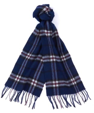 Barbour New Check Tartan Scarf - Navy Thompson