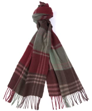Barbour Kindar Check Scarf - Tobacco Brown