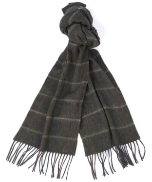 Barbour Tattersall Lambswool Scarf - Seaweed