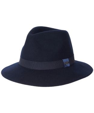Women's Barbour Deveron Fedora Hat - Navy