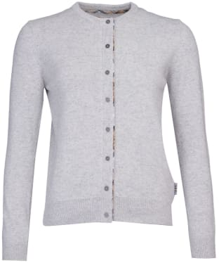 Women's Barbour Pendle Cardigan - Pale Grey Marl