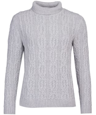Women's Barbour Burne Knit - Pale Grey Marl