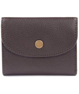 Women's Barbour Leather Billfold Purse - Dark Brown