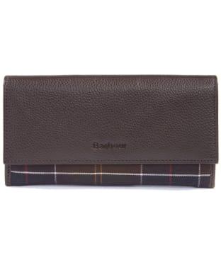 Women's Barbour Leather Convertible Wallet - Dark Brown