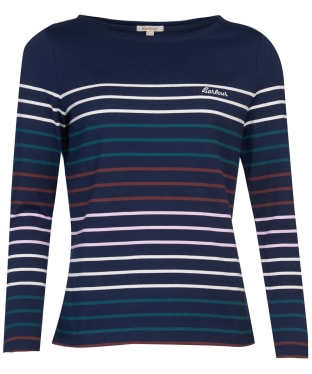 Women's Barbour Hawkins Stripe Top - Navy