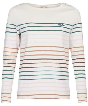 Women's Barbour Hawkins Stripe Top - Off White