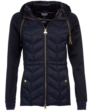 Women's Barbour International Playoff Hooded Sweater - Black