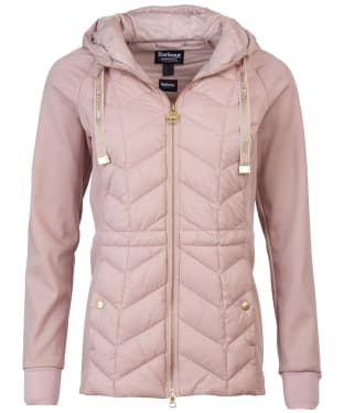 Women's Barbour International Playoff Hooded Sweater - Rose Quartz