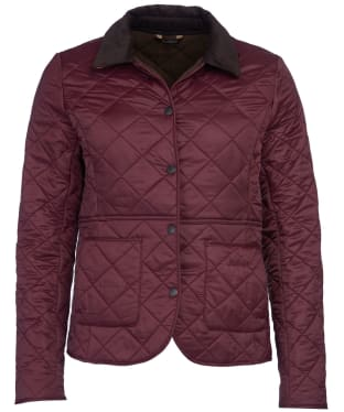 Women's Barbour Deveron Polarquilt Jacket - Winter Blackberry
