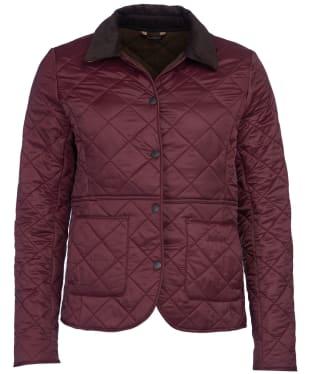 Women's Barbour Deveron Polarquilt Jacket - Winter Blackberry