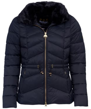 Women's Barbour International Halfback Quilted Jacket - Black