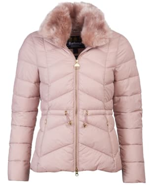 Women's Barbour International Halfback Quilted Jacket - Rose Quartz