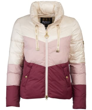 Women's Barbour International Kendrew Quilted Jacket - Calico/Rose Quartz