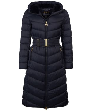 Women's Barbour International Lineout Quilted Jacket - Black