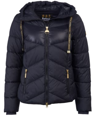 Women's Barbour International Lydden Quilted Jacket - Black