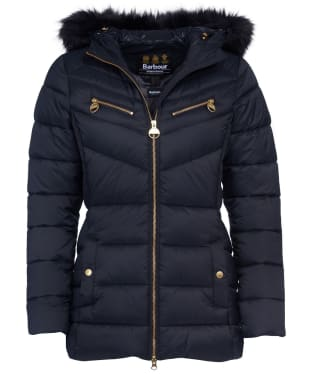 Women's Barbour International Grounding Quilted Jacket - Black